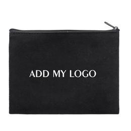 Sacos de lona desproporcionados on-line-Colezhang amostra bolsa de lona de grandes dimensões com zíper, 11 3/4 x 9 1/2 polegadas, bolsa de armazenamento multifuncional, logotipo personalizável