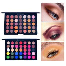 2020 maquillaje naranja 35 colores Pearl Matte Eyeshadow Orange Color Earth Earth Eyeshadow Tray Mix no es fácil de quitar Makeup Pro maquillaje naranja baratos