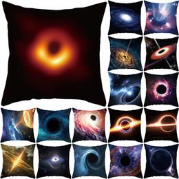 Travesseiro de galáxia on-line-Buraco negro Impresso Fronha 45 * 45 cm Quadrado Universo Galaxy Fronha Capa de Almofada Sofá Capa de Almofada Fronha home decor throw pillow A41805