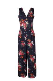 Abbigliamento moda delle signore online-Fashion V Necck Back Hollow Out Sashes Tuta da donna New Designer Flora Print Breif Apparel Fashion Pagliaccetti