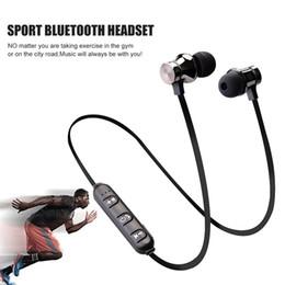 magnetische ladekabel samsung Rabatt Magnetic Attraction Bluetooth-Kopfhörer mit Mikrofon Wireless-Kopfhörer HiFi-Headset 4.2 mit Ladekabel Sport-Ohrhörer