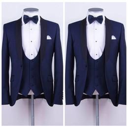 corbata de lazo para hombre chaleco Rebajas Traje formal hecho a medida para hombre Dos piezas de esmoquin de boda Slim Fit Novio Trajes de fiesta de negocios formal formal para hombres (chaqueta + chaleco + pajarita)