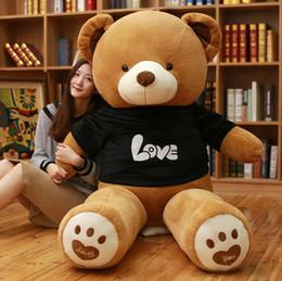 огромные подушки Скидка Оптовая продажа-100 см огромный большой Америка медведь чучела животных плюшевый медведь крышка плюшевые мягкие игрушки куклы наволочка дети ребенок взрослый подарок