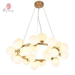 lampara moderna tom dixon Rebajas Burbuja arte decorativo LED lámpara pendiente de las luces colgantes de oro G4 hotel restaurante Loft Salón Foyer Vestíbulo luces moda moderna envío