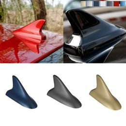 Antena negra online-Universal Black Car SUV Decor Style Dummy Shark Fin Antena Techo Antena de múltiples colores Modificado Antena de alta calidad Streamline