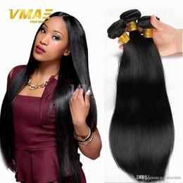 En iyi Kalite Brezilyalı Saç Örgü Demetleri Brezilyalı Düz Virgin İnsan Saç 3 Adet Çok Işlenmemiş Brazillian Saç Uzantıları Doğal Siyah nereden