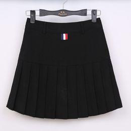 Shorts japoneses sexy on-line-Colégio das mulheres de verão de Cintura Alta Sólida Mini Saia Plissada Estudantes Japoneses Uniformes de Classe Sexy Calças Saia Curta