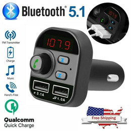 Base bluetooth online-Fábrica tienda Bluetooth En el cargador de coche adaptador inalámbrico de FM Transmisor MP3 Car Kit cargador USB Radio 2