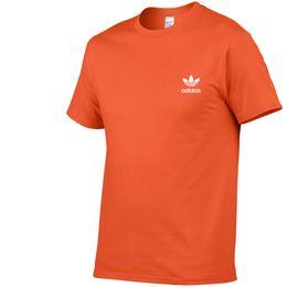 Maglietta degli uomini di Adi del progettista degli uomini di 2019 Nuova maglietta di colore solido di sport di marca Maglietta degli uomini di Skateboard di stampa del cotone 100% degli uomini Vestiti dei ragazzi da