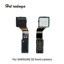 Câmera frontal s4 on-line-10 pcs pequeno cabo da câmera do cabo flexível para samsung galaxy s4 i9500 s5 g900 câmera frente faceamento módulo flexo proximidade da fita de substituição de peças de reparo