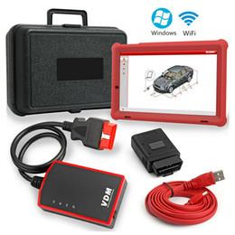 ids de ford vcm2 vcm ii Rebajas VDM OBD2 Escáner de diagnóstico Wifi Scanner Car All System Tool con tableta de 10.1 pulgadas