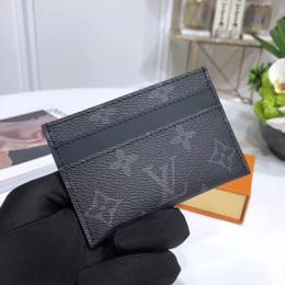 Melhor bolsa de homem on-line-Melhor qualidade carta de couro genuíno homens curto carteira com caixa Tote Bolsa clássico titulares de cartão chave mulheres coin carteira M60703 11--7 cm m62170