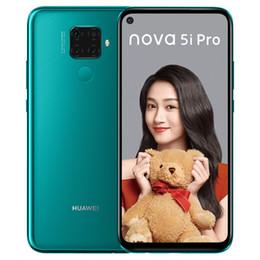 mtk telefono cellulare sim Sconti Huawei originale Nova 5i Pro 4G LTE del telefono cellulare 8GB di RAM 128 GB 256 GB ROM Kirin 810 Octa core 6.26 pollici 48MP Fingerprint ID mobile astuto