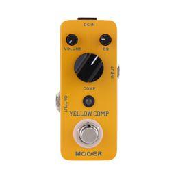 mini micro corde Sconti Mooer Yellow Comp Micro Mini compressore ottico a pedale per chitarra elettrica True Bypass 6 corde basso