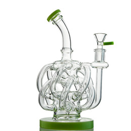Bong vortex online-12 Recycler tubo Tubi Bong Super ciclone bicchiere d'acqua Vortex Recycler Oil Rig Dab 9 pollici Pipe Con Bowl XL137