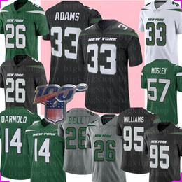 Camisa de sino on-line-33 Jamal Adams New York # 26 Jet Le'Veon Bell Jersey 14 Sam Darnold 95 Quinnen Williams Joe Namath CJ Mosley Football Jerseys