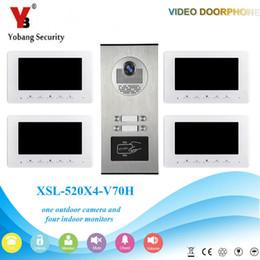 Interphone vidéo de sécurité Yobang 7 '' Couleur Moniteur intérieur filaire 1000TVL Accès entrée caméra Sonnette IR Vision nocturne pour 4 familles ? partir de fabricateur