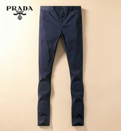 PRA klassische Marken beiläufige Hosen Männer Entwerfer beiläufige Hosen Qualitäts Art und Weise keuchen Joker Jeans Boutique dünne Hose Geschäft Hose
