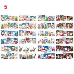 2019 weihnachtsnagelarten 12 Styles / Sheet Halloween Schädel Weihnachten Nail Art Wassertransfer Nail Sticker Wraps Maniküre Dekor Zubehör V9-Drop günstig weihnachtsnagelarten