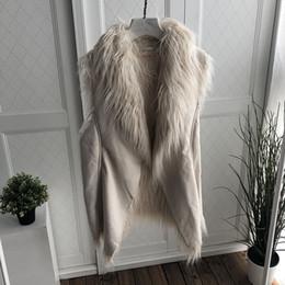 Жилет средней длины онлайн-Boutique  Plus Chamois Velvet Medium Long Vest for Women Winter Buckskin Fashion Versatile Feminine Coat Vest