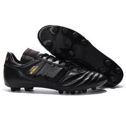 purchase cheap 8d384 71a4a Zapatillas de fútbol para hombre Copa Mundial de fútbol FG Zapatos de fútbol  con descuento Botines de fútbol de la Copa del mundo 2015 Tamaño 39-45  Negro ...