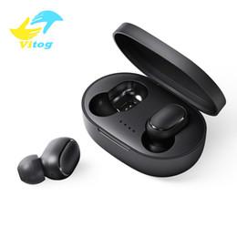 Teléfono inteligente más inteligente online-Vitog auricular de Bluetooth para auriculares Bluetooth TWS A6S 5.0 Auriculares inalámbricos vida impermeable auricular Bluetooth con micrófono para todo el teléfono elegante
