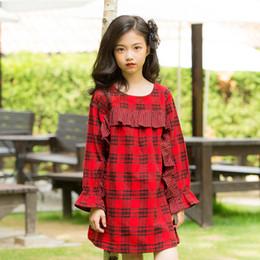 f4068e3e636a Princess Dress 2019 New Fashion Plaid manica lunga per bambini Abiti per  ragazze 4 5 6 7 8 9 10 11 12 13 anni Toddler Girl Clothing vestiti ragazze  13 anni ...
