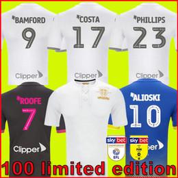 jerseys de epl Rebajas niños + hombres Leeds United 100 Centennial edición limitada centenario camiseta de fútbol ROOFE BAMFORD ALIOSKI camisetas CENTENARY football kit shirts