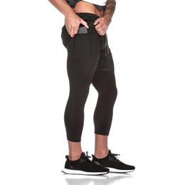 2019 pantaloni legging stretti degli uomini di modo Pantaloni sportivi di nuovo stile di modo degli uomini Pantaloni con tasca interna maschio Vendita calda Sportwear Running Fitness Legging Pantaloni sportivi pantaloni legging stretti degli uomini di modo economici