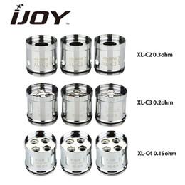 2019 c2 luzes 3 pcs IJOY XL-C Light-up Chip de Bobina XL-C2 0.3ohm XL-C3 0.2ohm XL-C4 0.15ohm para IJOY EXO XL / LIMITLESS XL Atomizador Cabeça de Substituição desconto c2 luzes