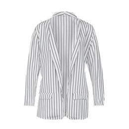 Combinaison blanche en Ligne-Manteau à manches longues femme noir et blanc col rabattu Lady Business Suit cardigan veste costume femme Blazer Slim Top