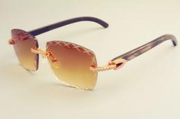 Canada 2019 gravure lentille 8300177 lunettes de soleil mode petit diamant pare-soleil naturel modèle noir corne de lunettes de soleil épaisseur de la lentille 3.0 Offre