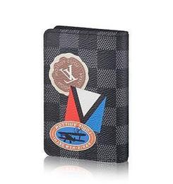 Cinturones de tarjeta de crédito online-2019 N64440 Organizador de bolsillo Tarjeta de crédito clásica Titular de la cartera Paquete de tarjetas portátil Carteras Monedero Mini Embragues Exóticos Cinturón de cadena de noche