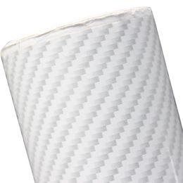 Carbono, fibra, vinil, branca, car on-line-Etiqueta Do Carro branco 2D Textura De Fibra De Carbono Vinil Envoltório do Automóvel Filmes 100 * 1520 MM / 300 * 1520 MM / 500 * 1520 MM