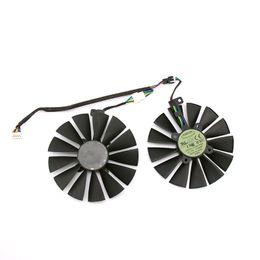 Ventiladores asus de enfriamiento online-Nueva T129215SM 4 PIN PC Coling ventilador para ASUS RX580 RX470 8G O8G O4G juego 13 palas del ventilador de enfriamiento RX570 GPU Reemplazar refrigeración
