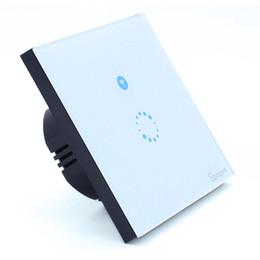 Sem fio desligar a luz on-line-Wi-fi Interruptor de Luz de Toque de parede 1 gangue ON / Off Interruptor de Controle Remoto Sem Fio Interruptor de Tempo de Automação Residencial Remota