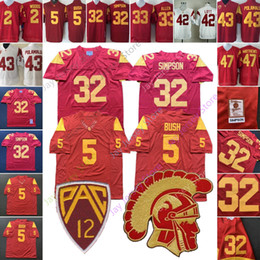Troy jersey online-Maglia da calcio College USC Trojan Woods Reggie Bush Matt Barkley O.J Simpson Marcus Allen Ronnie Lott Troy Polamalu Clay Matthews Jersey