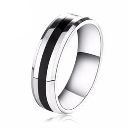 anel de carboneto de tungstênio tamanho 13 Desconto 6mm mens titanium anéis de aço inoxidável banda de casamento grosso linha preta banhado anel de carboneto de tungstênio nos tamanho (5-13)