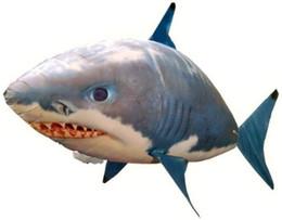 2019 tubarões de natação de brinquedo Remotas presentes Controle Tubarão Brinquedos Air peixes nadando infravermelho RC Voador balões de ar Peixe Crianças Brinquedos decoração do partido desconto tubarões de natação de brinquedo