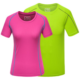 sports t shirts wholesale Coupons - Short Sleeve T shirts Men Women Running Male Female Sports T-Shirts Couple Summer Top Tees Fast Dry Tshirts Size S-4XL 2019 New