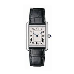 Relógio impermeável japonês on-line-Relógio de luxo das mulheres movimento de quartzo japonês estilo clássico caixa de aço inoxidável pulseira de couro profunda à prova d 'água montre de luxe