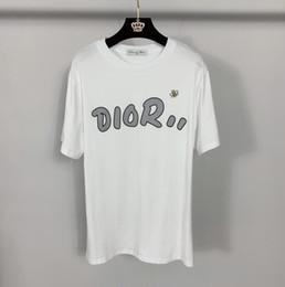 2019 chemises logos d'impression nouvelle lettre logo imprimé T-shirt femme T-shirt en vrac pure femme DI * R T-shirts Tee-shirts respirant à manches courtes promotion chemises logos d'impression