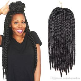 empacar trenzas retorcidas Rebajas Havana Mambo Twist Crochet Braids Hair 10inch 18inch 12root / pack Trenzas de caja de cabello trenzado sintético Trenzas 100% Kanekalon Extensiones de cabello
