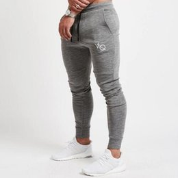 2019 leggings de moda de ginástica Homens da moda Running Sweatpants Skinny Esporte Leggings Sportswear Calças Justas Dos Homens Calças de Ginástica Aptidão Calças Elásticas Com M-2XL desconto leggings de moda de ginástica