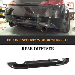 carbon fiber lips Coupons - carbon fiber car Add On rear diffuser lip For infiniti G37 G37S 2 Door base sedan sport 2009-2013 not fit USA market Black FRP