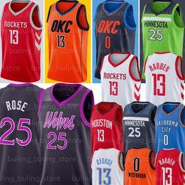 NCAA Russell Westbrook 0 Jersey Rocket James Harden 13 Hakeem Olajuwon 34 Chris Paul 3 University College retro Hombres jerseys del baloncesto desde fabricantes
