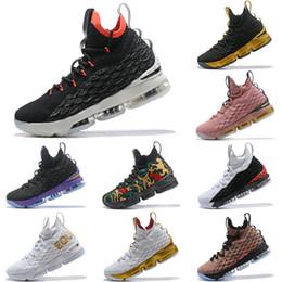 New Top Quality Lebron 15 Bright Crimson Black Sail Bright Crimson AQ2363  002 Mens Basketball Shoes James 15 Sneakers XV Sports Shoes efdac7c9d8