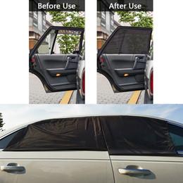 2020 finestre vetrate Car Window Ombra / posteriore dei cristalli laterali anteriori Parasole copertura completa di Windows Universal Car Mesh zanzariera tende in confezione da 2 finestre vetrate economici