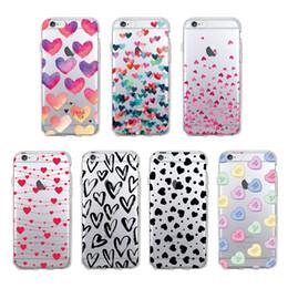 copertine per telefoni cellulari per ragazze Sconti Custodia cellulare Love Heart per cellulare Custodia per iPhone XR XS MAX X 8 7 6 6S Plus Samsung Galaxy S10 S9 S8