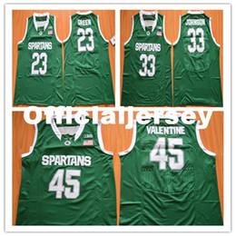 2016 New Michigan State Spartans  33 Johnson jersey  23 DG 45 Denzel  Valentine green College Basketball Jersey Ncaa michigan state denzel  valentine jersey ... 4bbe448c5